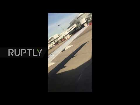 Russia: Utair Boeing 737 Engine Catches Fire On Runway Just Before Takeoff