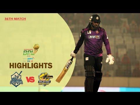 Chattogram Challengers vs Rajshahi Royals Highlights   36th Match   Season 7   BBPL 2019-20