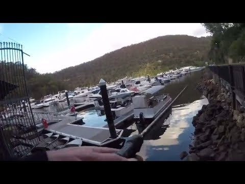 Hawkesbury River Land Based Fishing At Berowra Waters For A Flathead Dinner.