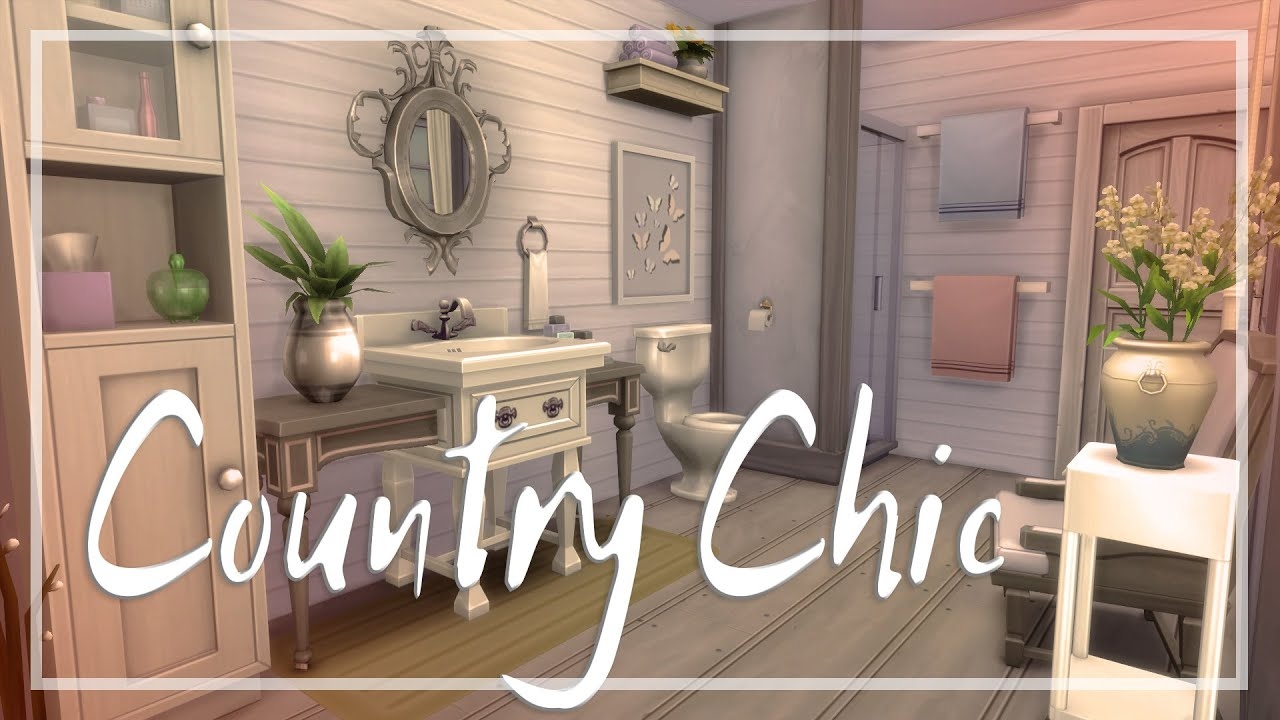 The Sims 4   Room Build   Country Chic Bathroom   YouTube