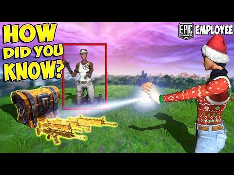 EPIC GAMES EMPLOYEE SPAWNS THE BEST LOOT FOR PLAYERS!! (Fortnite Magic!)