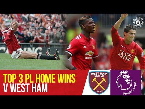 Top 3 Premier League Wins v West Ham at Old Trafford | Manchester United v West Ham| Bitesize Boxset