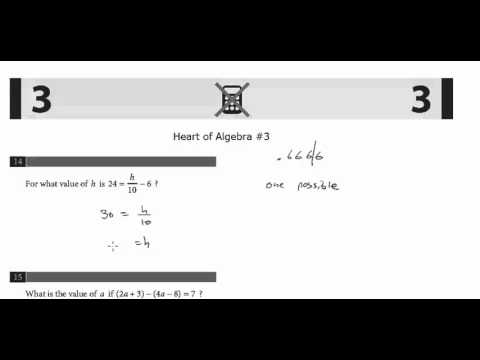 New PSAT Math Concepts: Algebra #3