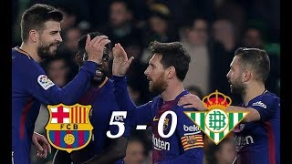 Barcelona Vs Real Betis 5-0 - La Liga - Highlights - 22/01/2018 - HD