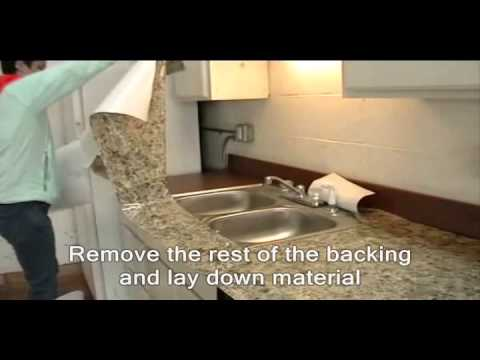 Instant Granite Around Sink Youtube