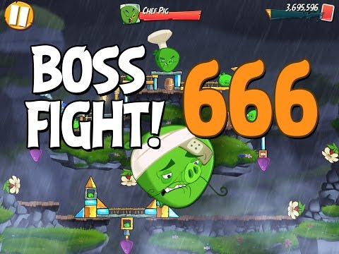 Angry Birds 2 Boss Fight 91! Chef Pig Level 666 Walkthrough - iOS, Android