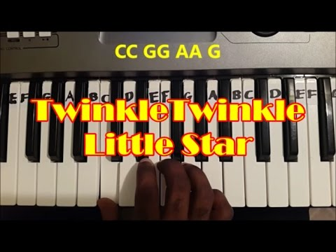 Easy Twinkle Twinkle Little Star Piano Keyboard Tutorial