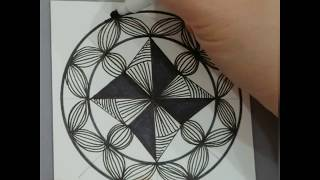莉莉的每日一畫#87 How to draw a Mandala?  如何畫曼陀羅?