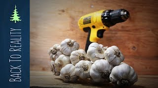 How to Peel Garlic in Seconds with a Drill! (DIY garlic peeling machine)