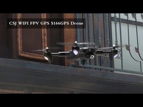 CSJ WIFI FPV GPS S166GPS Drone with 1080P Camera 18mins Flight Time