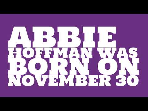Who does Abbie Hoffman share a birthday with?