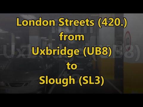 London Streets (420.) - Uxbridge (UB8) - Slough (SL3) (no motorway)