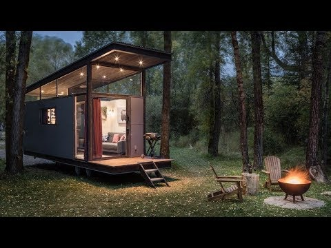 The Roadhaus a smaller version of Wedge Tiny House From Wheelhaus