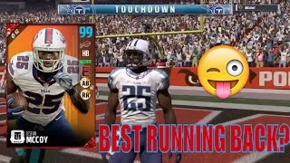 99 FREE LESEAN MCCOY GAMEPLAY AND REVIEW! MADDEN 17 ULTIMATE TEAM ONLINE GAMEPLAY