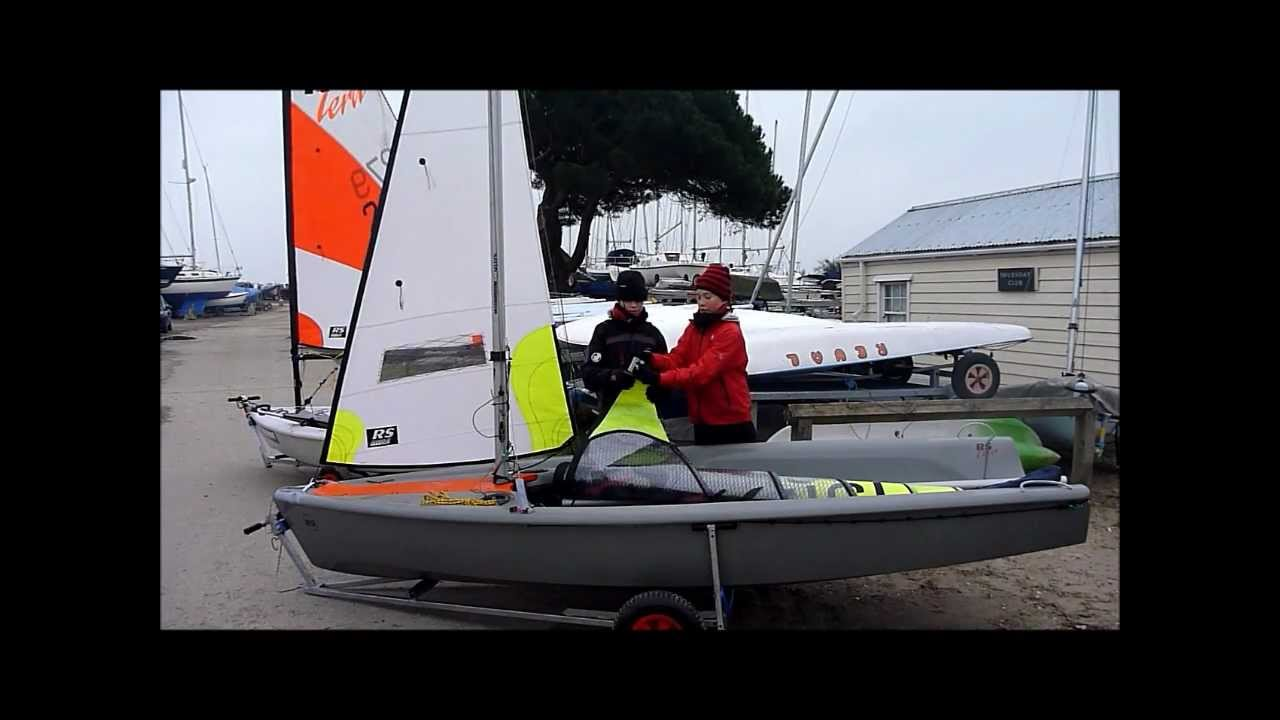 basic how to rig your rs feva with smoky video 1 youtube rh youtube com RS Vision Sailboat Sport Vision RS