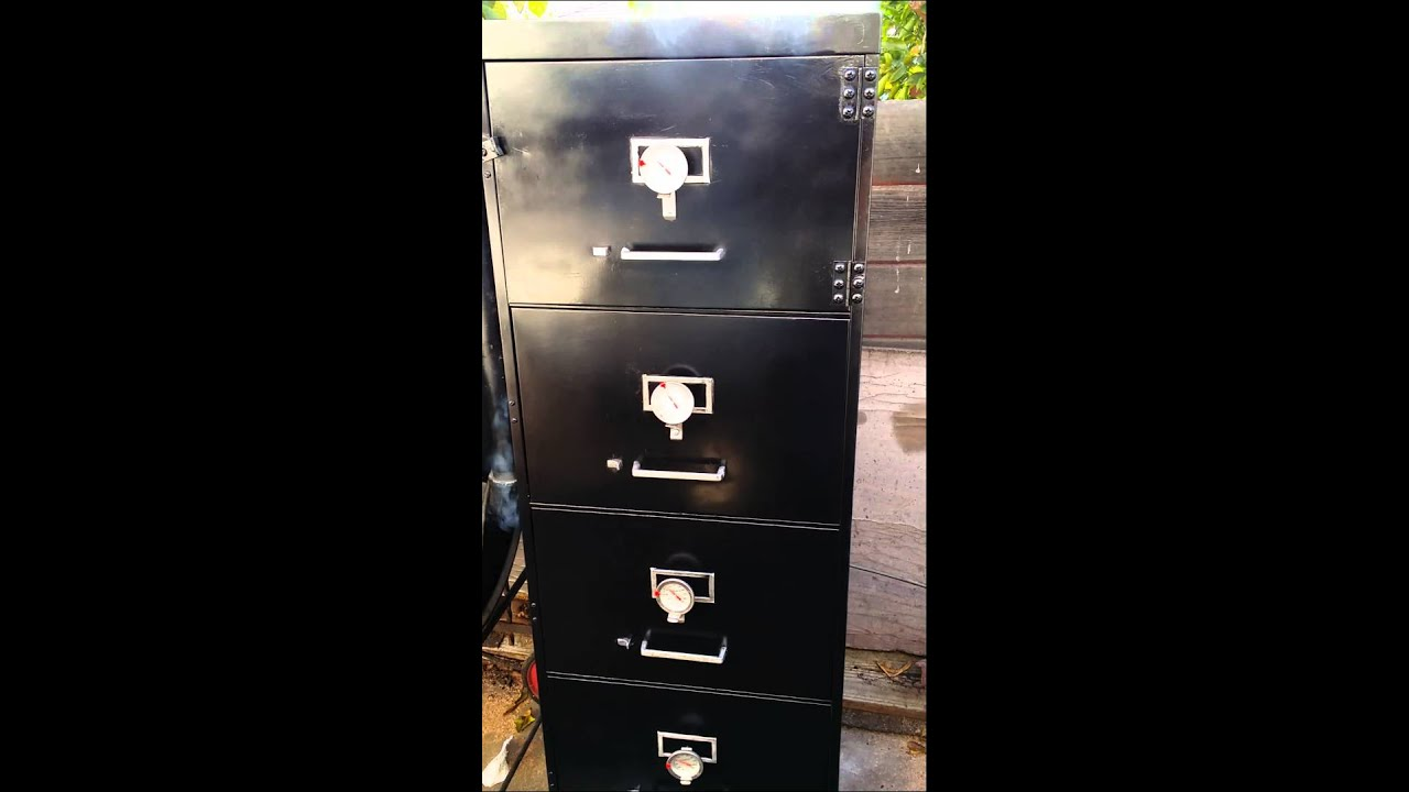 How To Build A Smoker Out Of File Cabinet