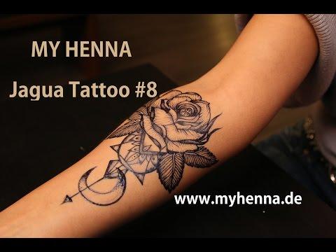 MY HENNA  Jagua Tattoo # 8 Rose