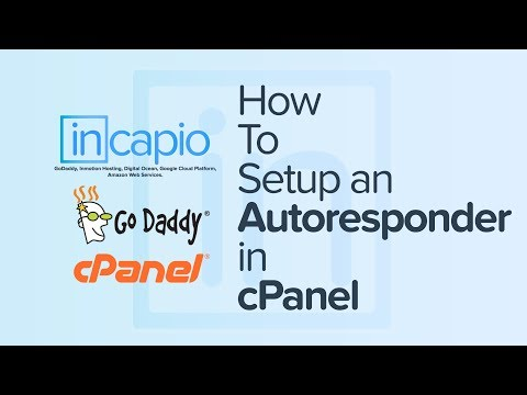 How To Setup An Autoresponder In CPanel | GoDaddy | 2018