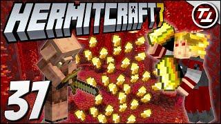 Insane Piglin Bartering Farm / Gold Farm!! - Hermitcraft Season 7: #37