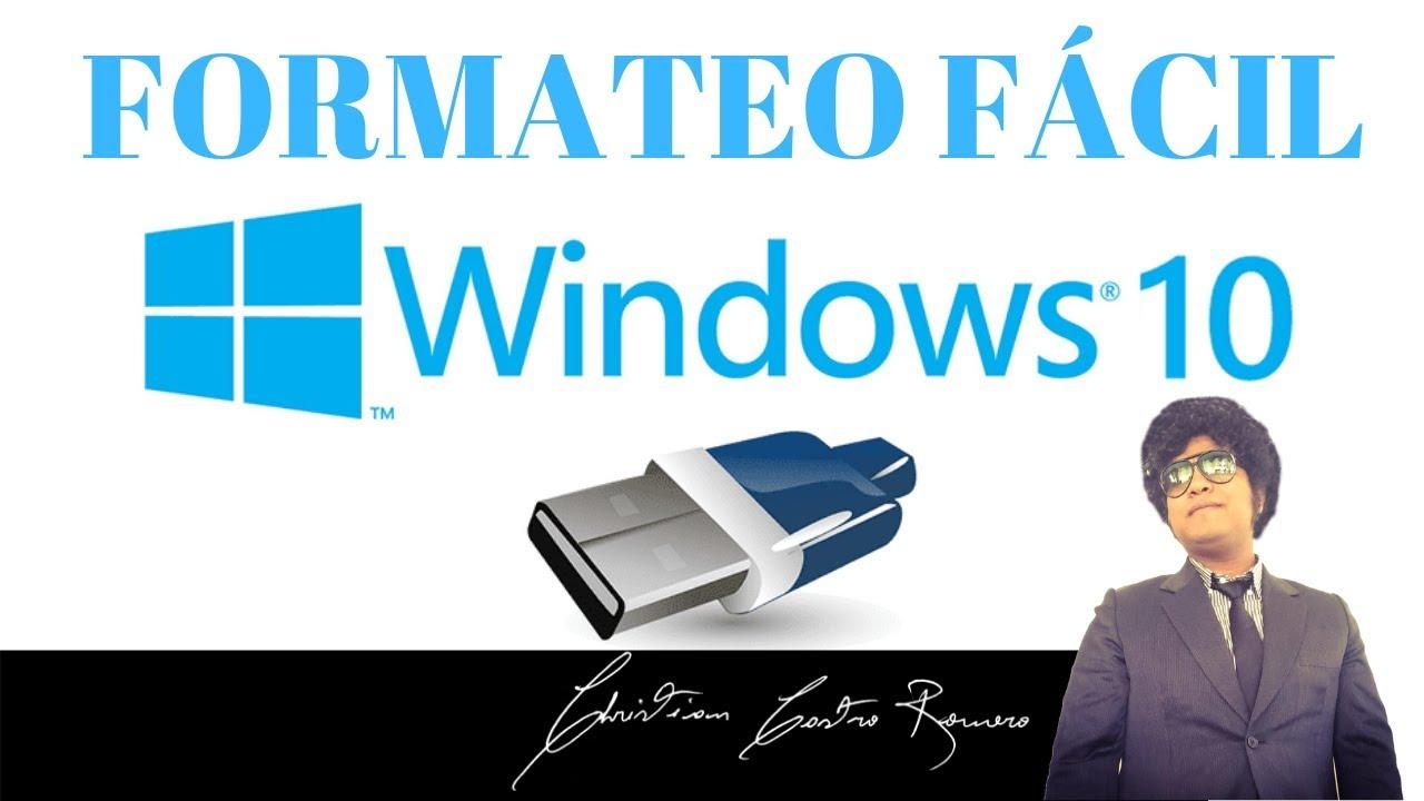 COMO FORMATEAR E INSTALAR WINDOWS 10 EN UNA P…