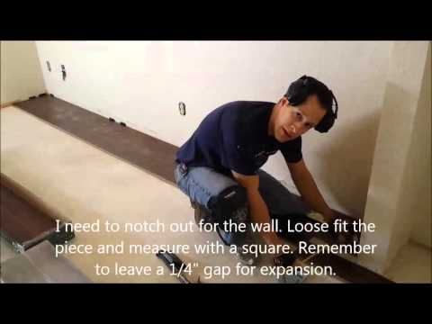How to install a floating wood floor