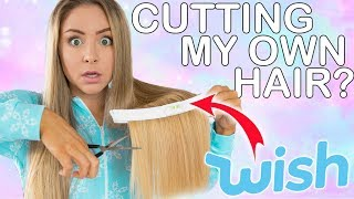 Cutting My Own Hair Using Products I Bought From Wish! Success Or Disaster