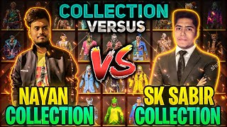 SK Sabir Vs NayanAsin Collection Versus 6-6 All Intense Moment Who Will Win 😱 - Garena Free Fire