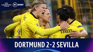 Dortmund v Sevilla (2-2) | Haaland breaks record as BVB progress | Champions League Highlights
