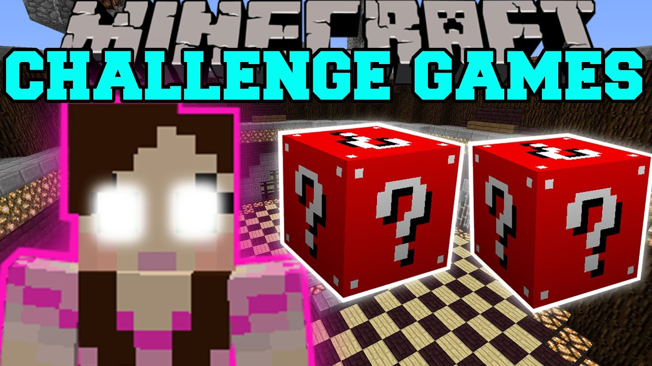 Minecraft gamingwithjen challenge games lucky block mod modded