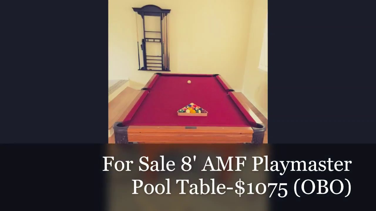 For SaleAMF Playmaster YouTube - Playmaster pool table