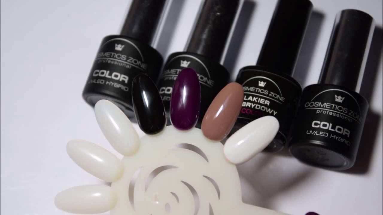Cosmetics Zone, hybrydy 003, 135, 203, 033 - prezentacja kolorów.
