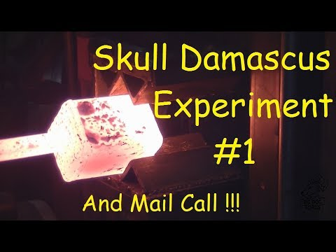 Forging / Blacksmithing Skull Damascus Part #1