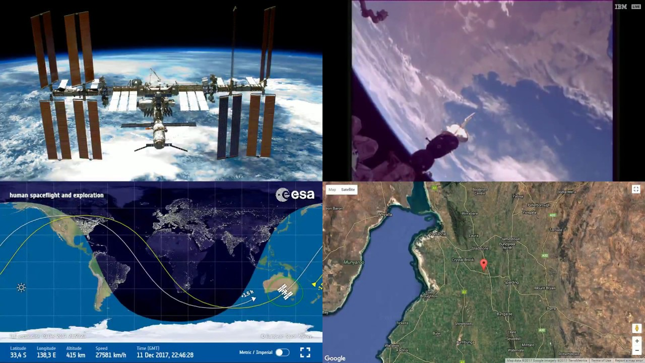Clear Pass Over Australian Coastlines Space Station Earth View - World map satellite view video