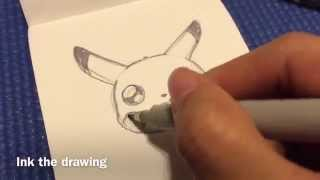 How to Draw a Pikachu (face)