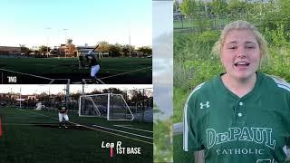 NCAA Softball Skills Video Lea Rubenacker 1st Base 3rd Base Class of 2022