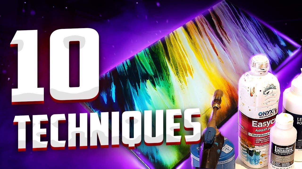 Les 10 Techniques A Connaitre Peinture Acrylique Tuto 2020 Youtube