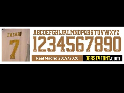 Real Madrid Font 2019 2020