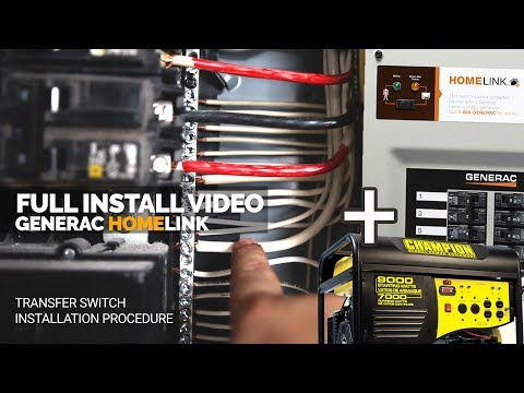 How To Install a Generac Generator Transfer Switch | Full Install | Home Link