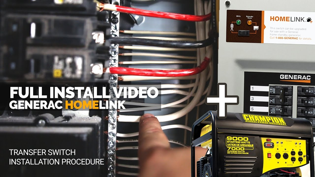 how i installed the generac generator transfer switch full install home link [ 1280 x 720 Pixel ]