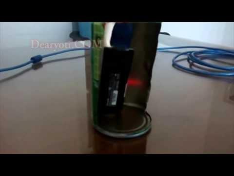 Cara memperkuat sinyal wifi dengan antena kaleng