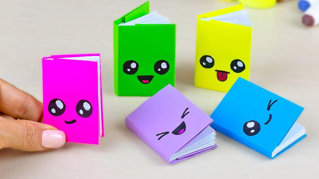 Как сделать Мини Блокнот из одного листа бумаги своими руками без клея | Канцелярия Mini notebooks