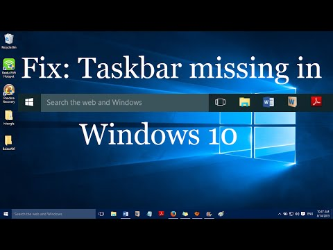 "Fix: ""Taskbar missing in Windows 10"""