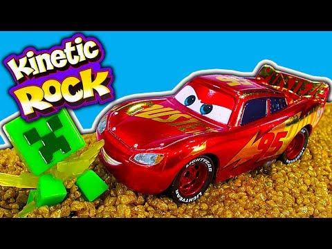 Kinetic Rock Crusher Playset Metallic Rust-eze Lightning McQueen EXCLUSIVE CARS 3