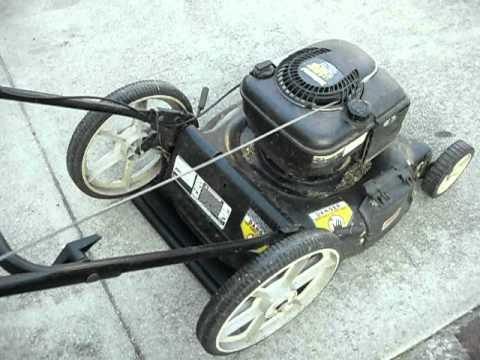 Yard Machines 6 25 Horsepower Lawnmower Cold Start Youtube