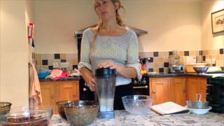 Donna Makes Almond Milk - Karuna Detox Retreat - Raw Food Training