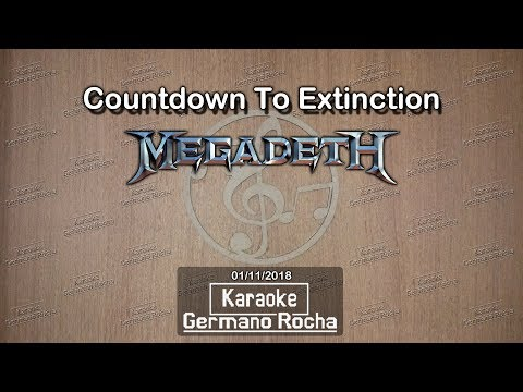 Megadeth - Countdown To Extinction (Karaoke)