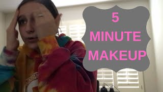 LAZY GIRL BEAUTY | 5 minute makeup routine
