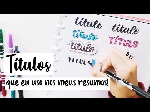 Ideias de títulos! | Ana's Studies