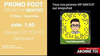 PRONO FOOT 2019 J-LEAGUE 1 fc-tokyo - vissel kobe - pronositiqueur fiable