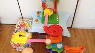 コロロンパーク3つを合体させて遊んでみた♪ Kororon park series with daruma  アンパンマンのおもちゃ thumbnail
